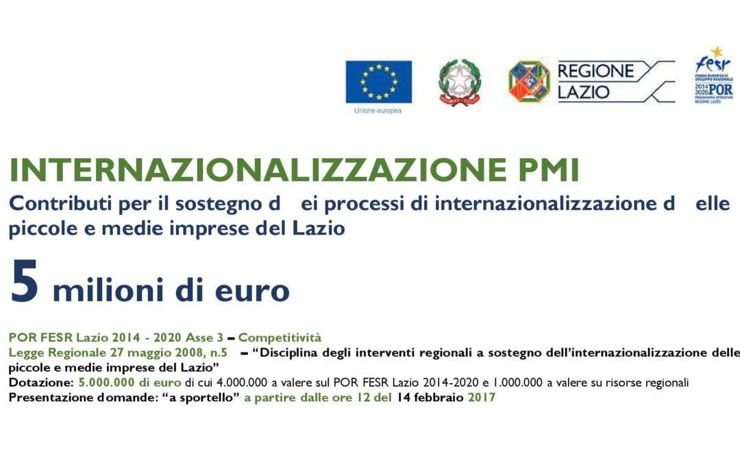 Contributi a fondo perduto per internazionalizzazione PMI – Dal 14 Febbraio 2017