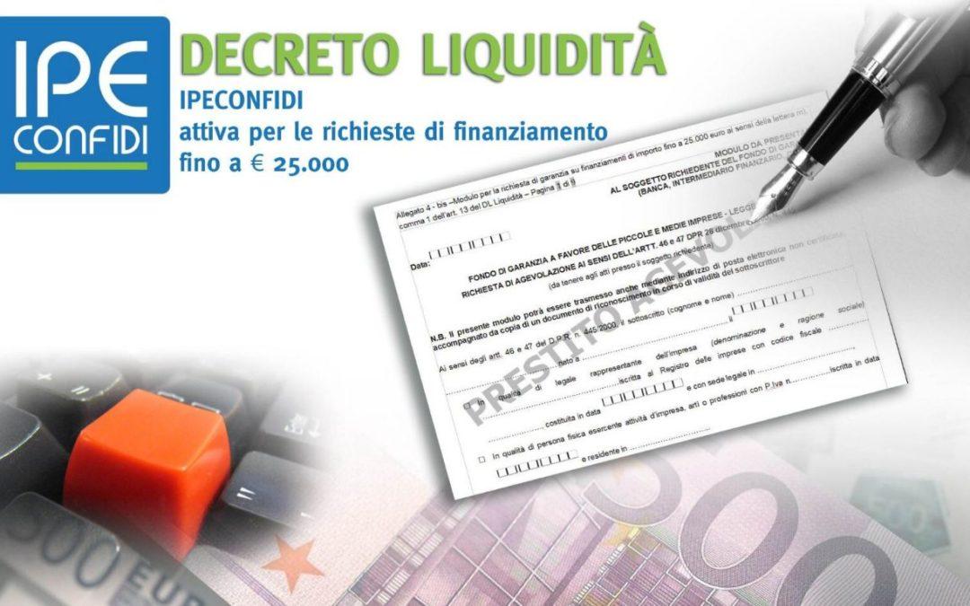 Decreto Liquidità – Finanziamento agevolato per PMI e professionisti